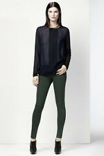 NEW J BRAND JEANS $209 815 COATED DUSTED NEBULA SUPERSKINNY IN GREEN NEBULA 24