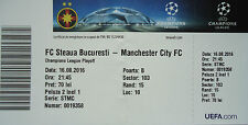 TICKET UEFA CL 2016/17 Steaua Bukarest - Manchester City