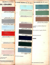 1960 LINCOLN CONTINENTAL PREMIERE MARK V 60 PAINT CHIPS DUPONT 5