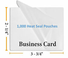 "Premium 5 Mil Business Card Size Heat Seal Laminating Pouches 1000 2.25"" x 3.75"""