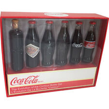 Coca Cola - 6 Piece Evolution Of The Contour Bottle MINI Set - New & Official