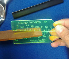 HANDY GAUGE II - LEATHER THICKNESS GAUGE  - METRIC & OZ. SIZES - EASY TO USE