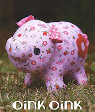 OINK OINK - Sewing Craft PATTERN - Soft Toy Felt Doll Animal Softie Pig Piglet