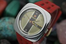 Vintage FELCA Automatic 25 Jewel Stainless Steel Diamond Dial Retro Men's Watch