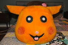 Pikachu Hamster Suit Mascot Halloween Costume Head POKEMON Go  Weird Scary Mask