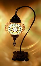 "Handmade Mosaic Glass table lamp 6"" diameter"