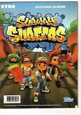 SUBWAY SURFERS EMPTY ALBUM  + 10 UNNOPENED STICKERS ENVELOPES FROM ARGENTINA