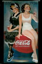 Coca Cola Bathing Beauty Metal Tin Plate Sign Tin Sign 7 9/10x11 4/5in