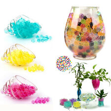 Funny 500PCS Crystal Mud Soil Water Beads Bio Gel Ball For Flower Weeding Decor