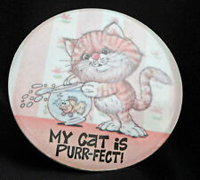My Cat Is Purr - fect Ceramic Magnetic Picture Fish Bowl Free USA Ship