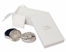 Baby Christening Gift Silver First Tooth Curl Box Set Babies Keepsake Present