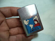 ZIPPO ACCENDINO LIGHTER AMERICA CRISTOFORO COLOMBO 1 RARE NEW COLLECTION