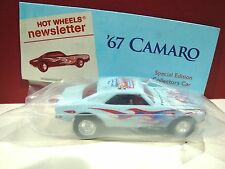 Hot wheels Nationals Convention 67 camaro Light Blue 1 of 400 MADE Newsletter