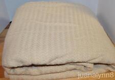 RALPH LAUREN  Herringbone Beige Cotton FULL/ QUEEN BLANKET NEW