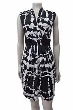Bcbg Maxazria Black white Print Matte Jersey Dress Sz XXS VHI6D669