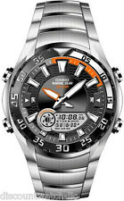 Casio AMW710D-1A OUTGEAR Stainless Steel Marine Gear Watch Moon Data Tide Graph