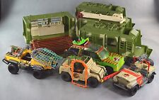 Jurassic Park Lot of 7 Vehicles Mobile Command Jungle Explorer Bush Devil Etc B4