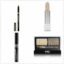 NYC New Your City Color 4 Piece Lot Liquid Eyeliner Cover Stick Brow Kit NEW