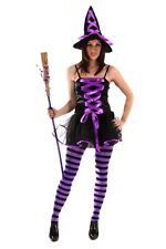 Women's Halloween Party Purple Sexy Witch One Size Fancy Dress Costume