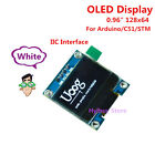 "White 0.96"" I2C IIC 128 64 OLED LCD Display Screen Module Board For Arduino Stm"
