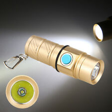 2000LM R5 LED 3 Mode Mini Tactical Flashlight Torch Keychain Hunting Light Lamp