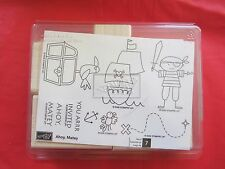 Ahoy, Matey Set of 7 UM Stampin Up Rubber Stamps Pirate