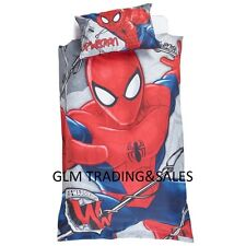 SINGLE BED ULTIMATE SPIDERMAN KIDS  LICENSED QUILT DOONA COVER SET + PILLOWCASE