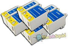 4 Juegos t040/t041 Compatible no-OEM Cartuchos De Tinta Para Epson Stylus C62