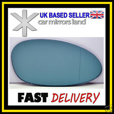 Right Driver Side Wing Car Mirror Glass BLUE BLIND SPOT BMW SERIES 1 04-09