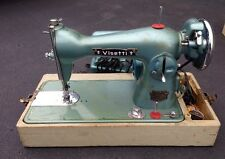 1950s VISETTI SUPER DELUXE PRECISION SEWING MACHINE, FOOT PEDAL, CASE, WORKS