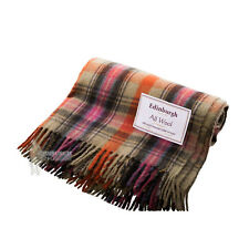EDINBURGH - PURE WOOL SCOTTISH TARTAN RUG / BLANKET / THROW - BRUCE OF KINNAIRD