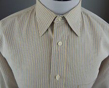 BURBERRY LONDON USA PINPOINT CANDYSTRIPED DRESS SHIRT MEN'S MD 15.5~33 SLIM FIT