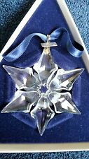 SWAROVSKI Crystal 2000 Annual LE Star/Snowflake Christmas Ornament MIB