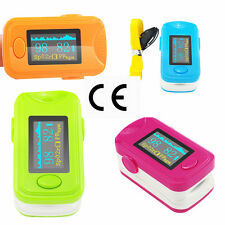 Finger Pulse Oximeter  Digital Fingertip SPO2 Monitor SpO2 PR Checker Lanyard AA