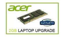 2 GB di memoria Ram Upgrade Per Acer Aspire One Happy (N450 Cpu Only) Netbook Laptop
