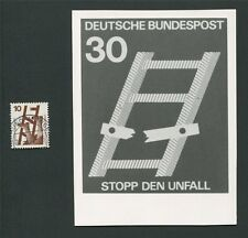 BUND FOTO-ESSAY 695 DAUERSERIE UNFALL 1971 PHOTO-ESSAY PROOF RARE!! e12