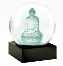 CoolSnowGlobes Crystal Buddha Zen Chillingly Beautiful Unique Glass Snow Globe