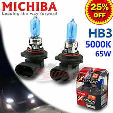 MICHIBA HB3 9005 65W 12V 5000K Diamond Xenon WHITE Light Bulbs fit GMC High Beam
