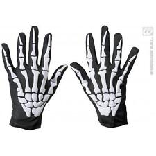Adult Size Skeleton Gloves Skelator Skull Halloween Fancy Dress Costume