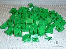 LEGO 100 Ziegel Dachsteine Slope inverted invers grün green 33° 2x2 Neu