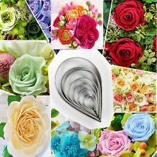 10Pcs Rose Flowers Stainless Steel Cookies Cutter Biscuit Cake Decor Mold Mould