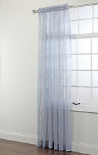 Mia Decorative Sheer Lace Curtain Panel, 84 Inches Long
