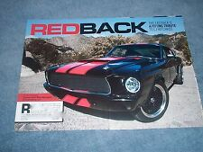 """1967 Ford Mustang Fastback RestoMod Article """"Red Back"""""""
