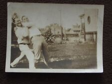TWO MEN IN A BEAR HUG WRESTLING - VTG ABSTRACT 1920's  PHOTO - GAY INTEREST