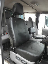 FORD Transit mk7 Van Coprisedili Driver Single-Nero Made 2 MISURA IN PVC IN PELLE