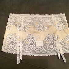 Victorias Secret Very Sexy Seduction Lace Garter Skirt NWT White Beige S/P