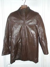 COLE HAAN MENS BROWN LEATHER JACKET SIZE S