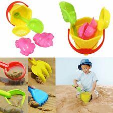 5Pcs Sand Shovel Spade Bucket Rake Beach Pit Play Kids Seaside Water Tools Toy