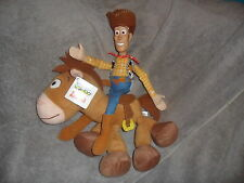 "TOY STORY BULLSEYESHERIFF WOODY SOFT PLUSH TAGGED NEW DISNEY HORSE TOY 13"" x 13"""