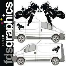 Par De 700mm X 720mm Freestyle Motocross van stickers/decals (espejo con Imágenes)